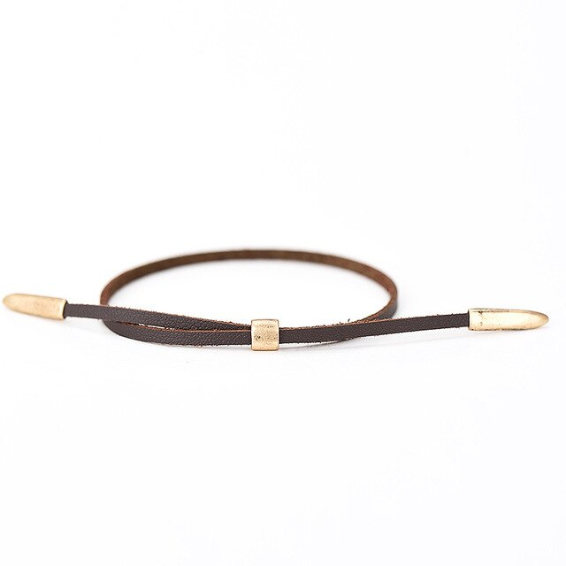Vintage Antique Leather Bracelet