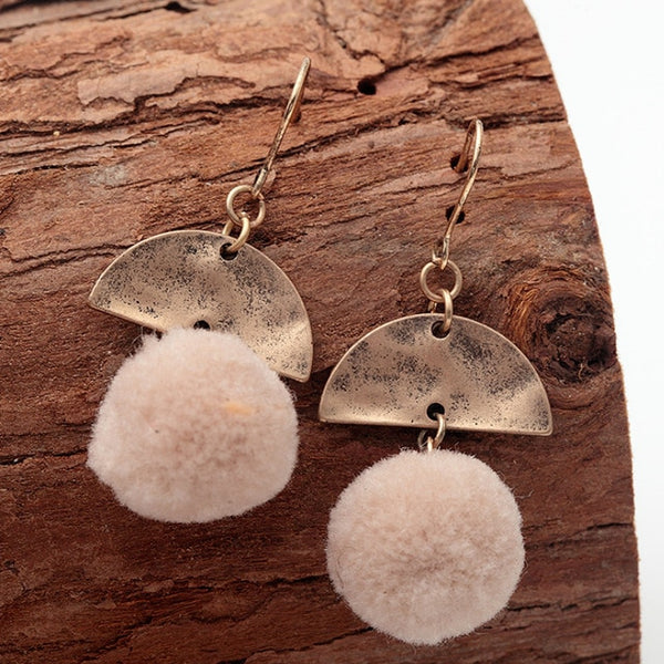 Delicate Ball Drop Earrings