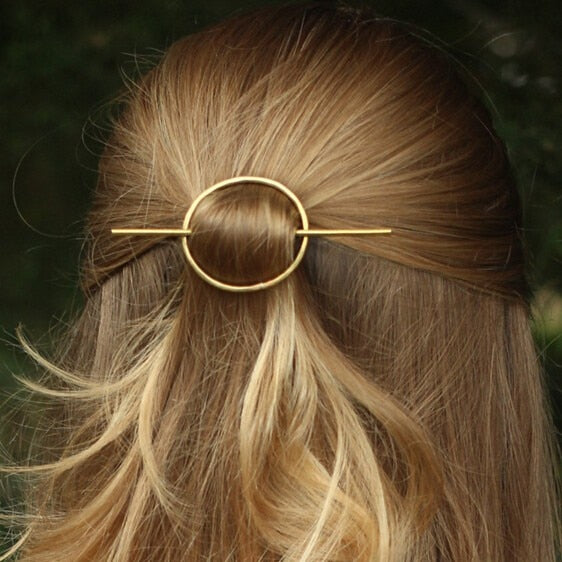 Vintage Wheel Hair Clip