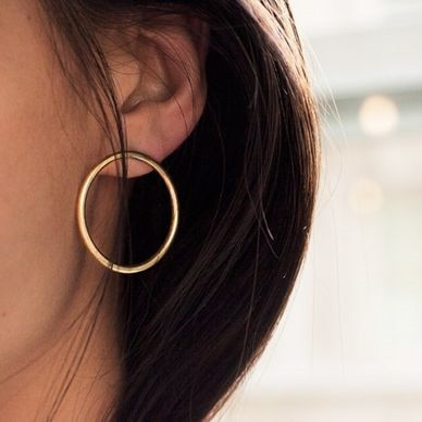 Delicate Round Earrings