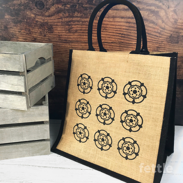 Yorkshire Roses Shopping Bag