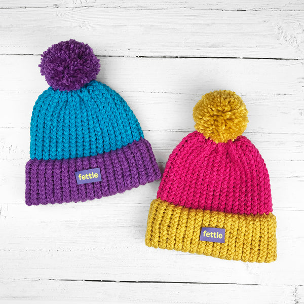 Nidderdale Bright Knitted Bobble Hat