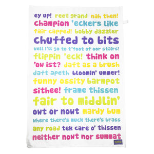 Yorkshire Phrases Tea Towel Gift Set