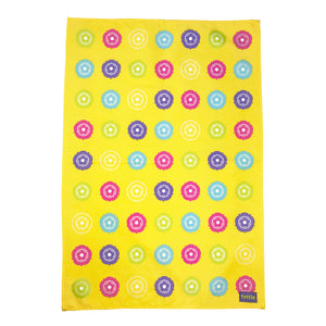 Bright Yorkshire Roses Tea Towel
