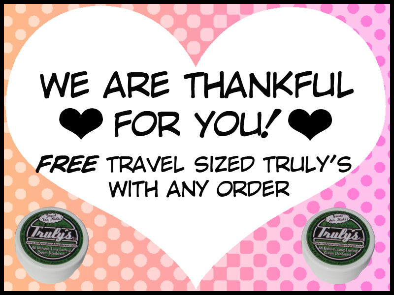 FREE Travel Sized Truly's With Your Order!