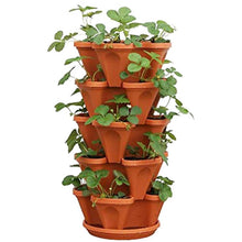 Load image into Gallery viewer, Flower Tower™ Vertical Stacking Plant Pots