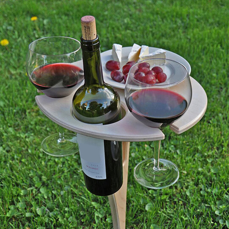 Outdoor Folding Wine Table