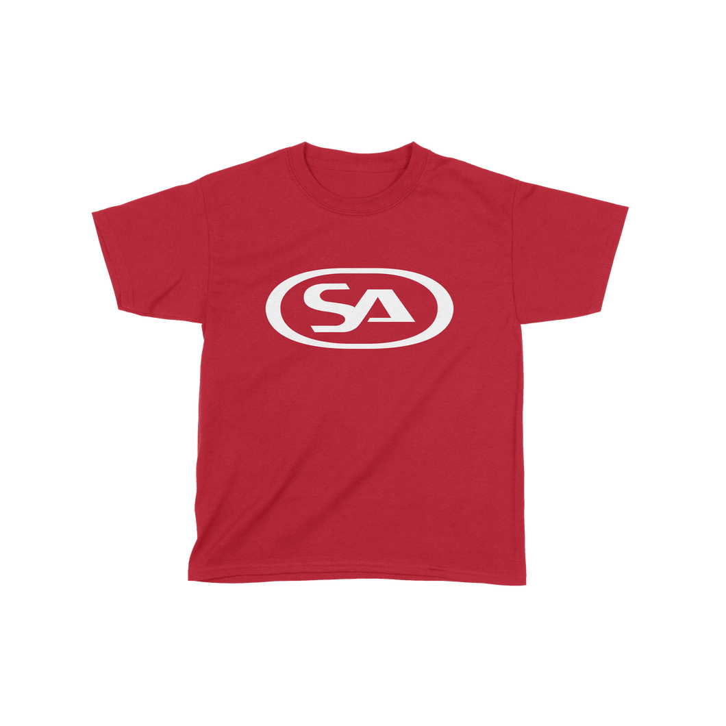 Kids SA Logo - T-shirt (Red/White) | Skunk Anansie Official Store