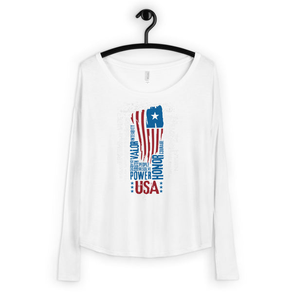 Freedom USA - Ladies' Long Sleeve Tee