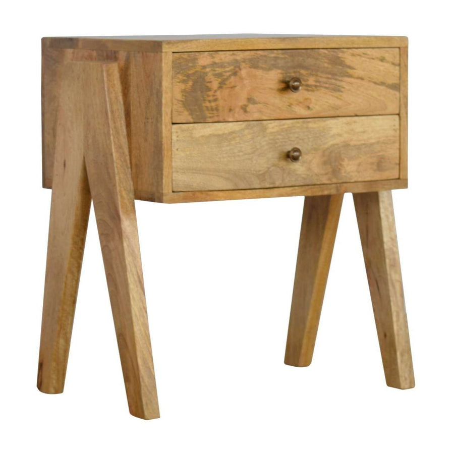 2 Drawer V-shaped Nordic Style Bedside Cabinet