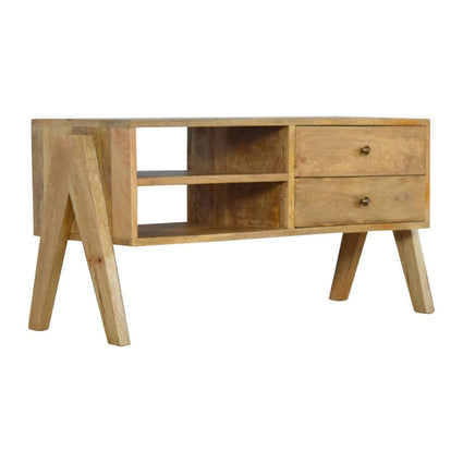 2 Drawer V-shaped Nordic Style Media Unit