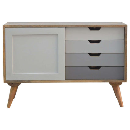 4 Drawers Cabinet With Sliding Door