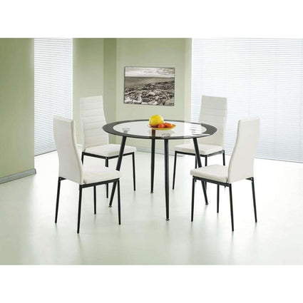 Acodia Dining Set Clear Glass & Black