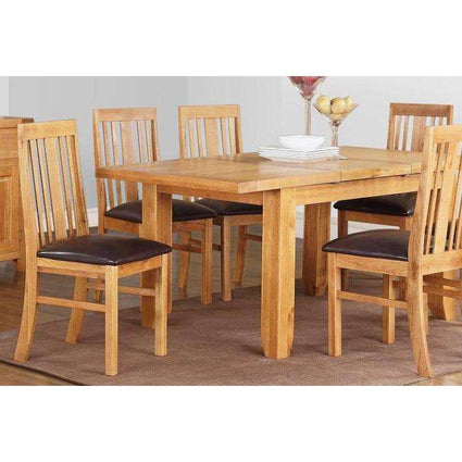 Acorn Solid Oak Extending Table with 6 Chairs