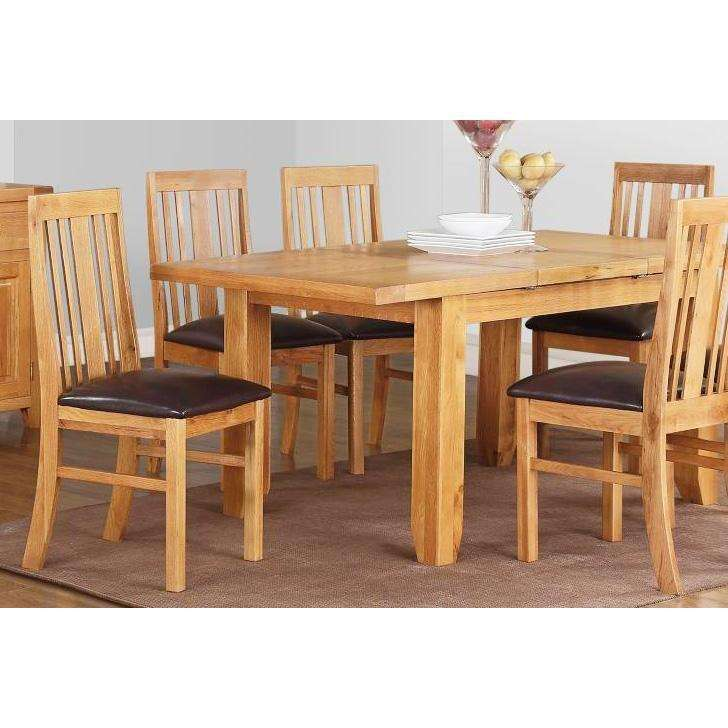 Acorn Solid Oak Extending Table Small with 4 chairs
