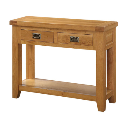 Acorn Solid Oak Hall Table 2 Drawers