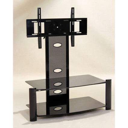 Alpine Flat Screen TV Stand Black