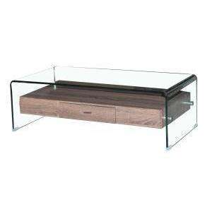 Angola Clear Coffee Table with Drawer