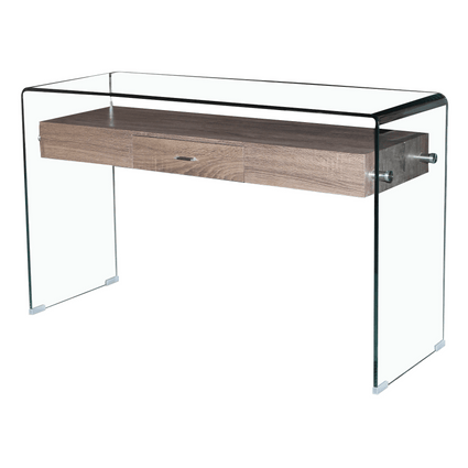 Angola Clear Console Table with Drawer