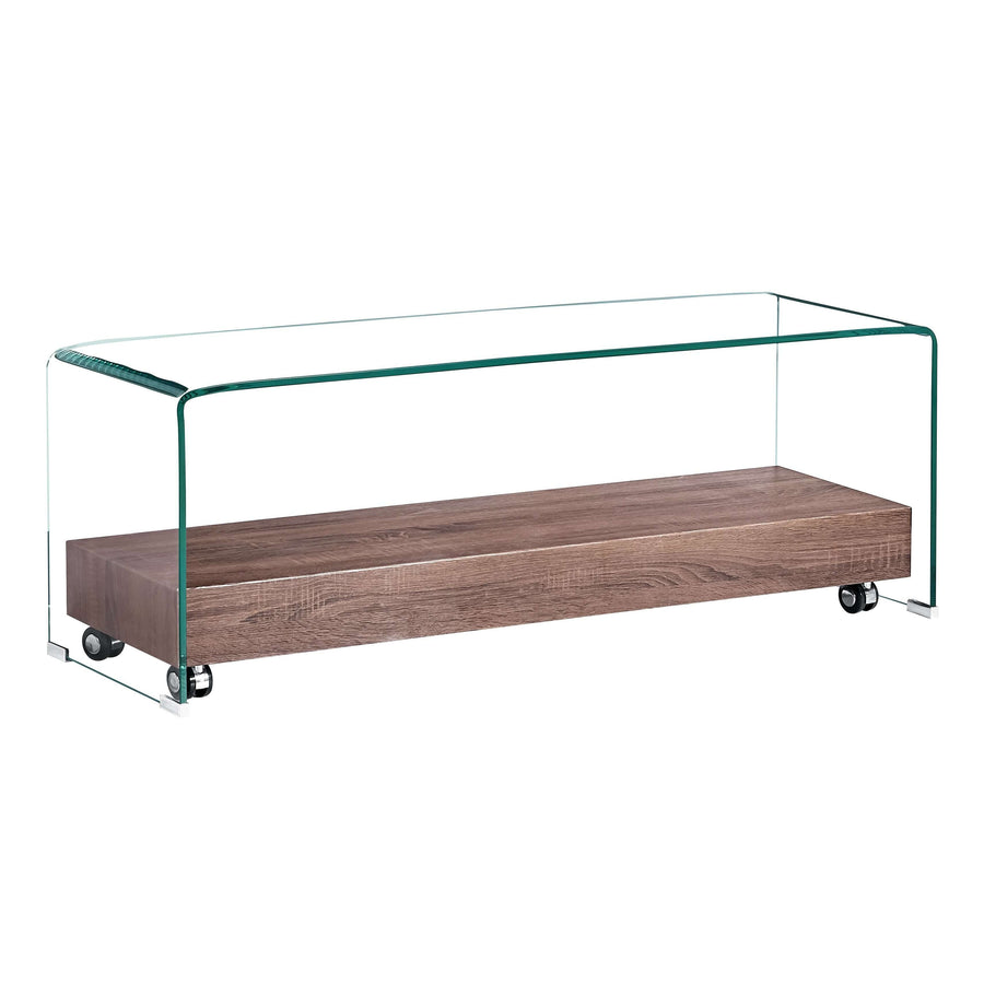 Angola Clear TV Unit with Shelf