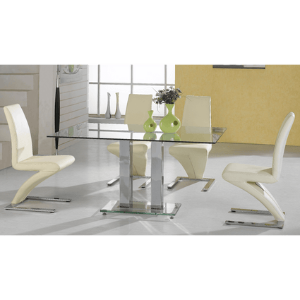 Ankara Large Dining Set with 4 Ankara Chairs