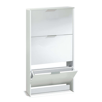Arctic Shoe Cabinet 3 Doors High Shine White