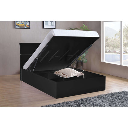 Arden Black High Gloss Storage Double Bed