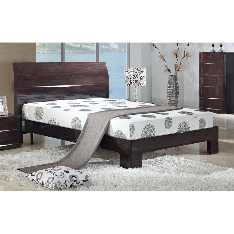 Arden Cherry High Gloss King Size Bed