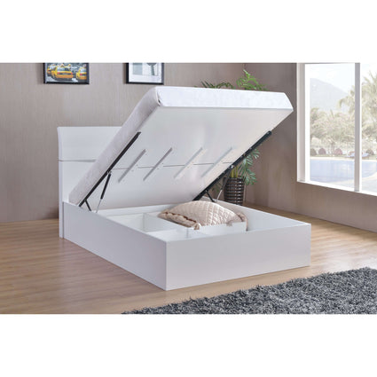 Arden High Gloss White Storage Double Bed
