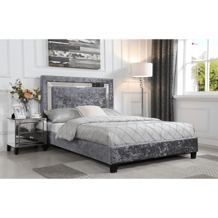 Augustina Crushed Velvet Double Bed