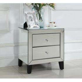 Augustina Nightstand Mirror 2 Drawer