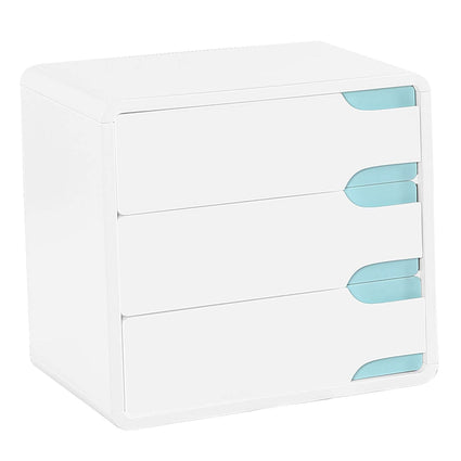 Badini Chest White Matt Gloss 3 Drawer