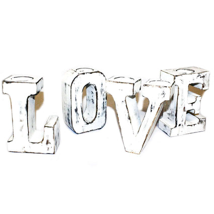 Big Letters - LOVE - Whitewash