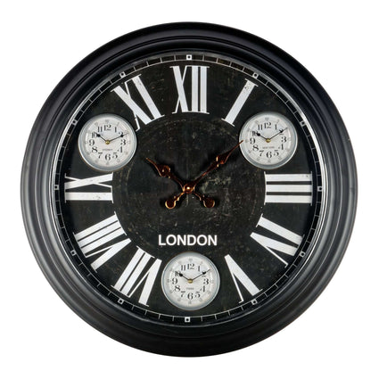 Black Metal Wall Clock 97cm