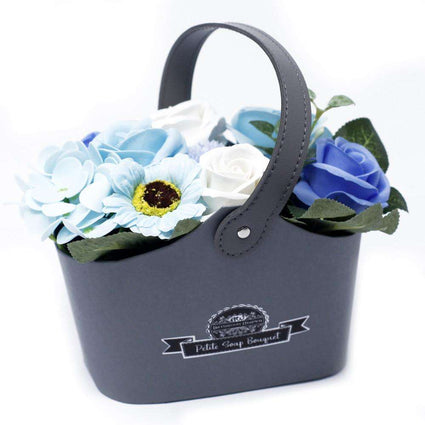 Bouquet Petite Basket - Soothing Blues