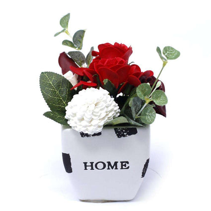 Bouquet Petite Flower Pot - Rich Reds