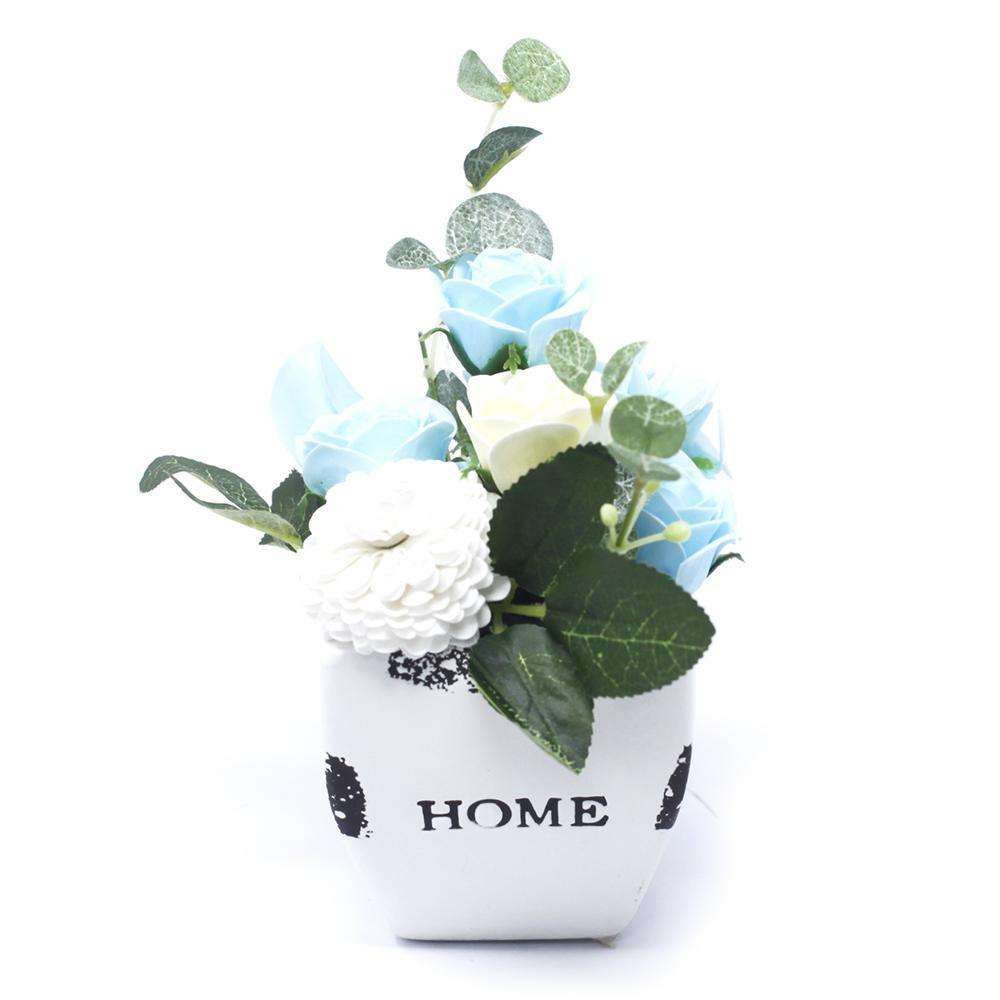 Bouquet Petite Flower Pot - Soothing Blues
