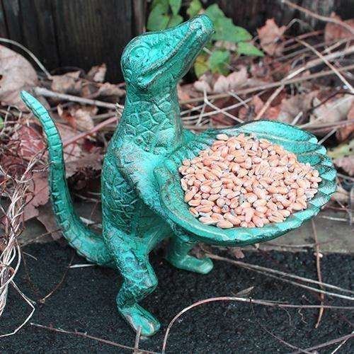 Cast Iron Bird Feeder - Lizard & Shell