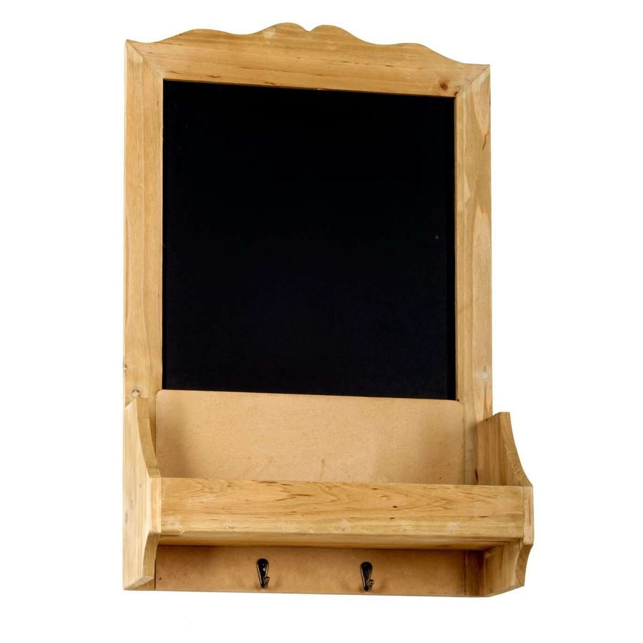 Chalk Board with Hooks & Shelf  37 x 13 x 58 cm