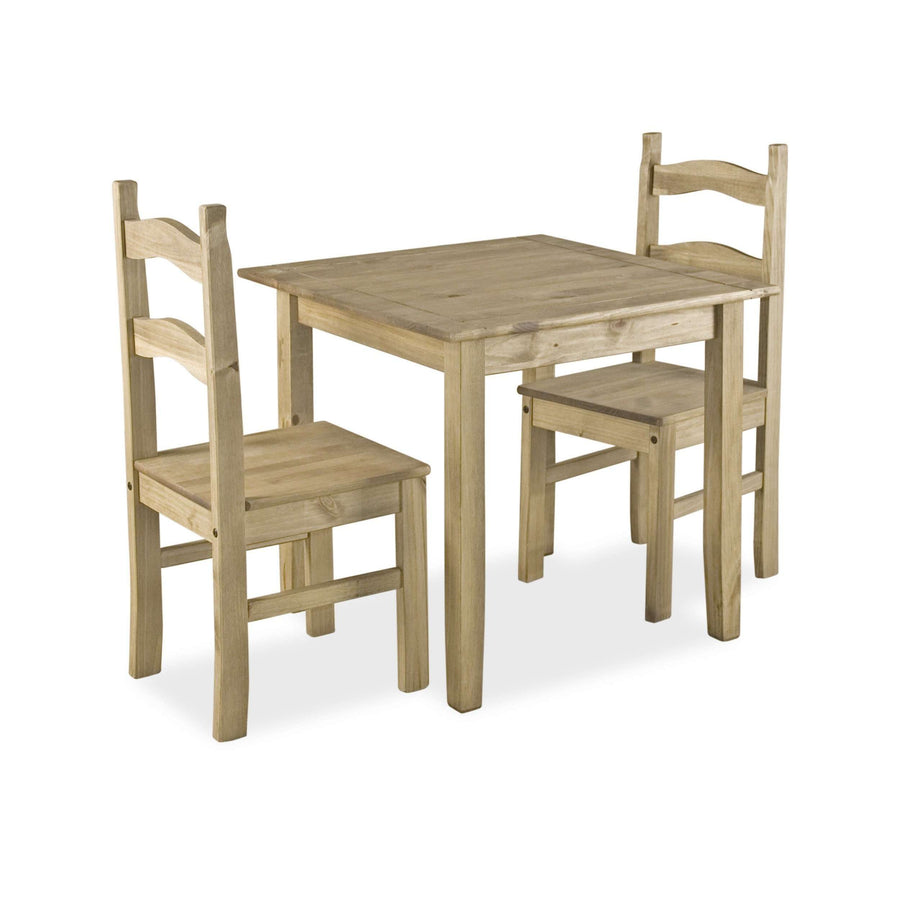 Coba Small Mexican Dining Set with 2 Chairs