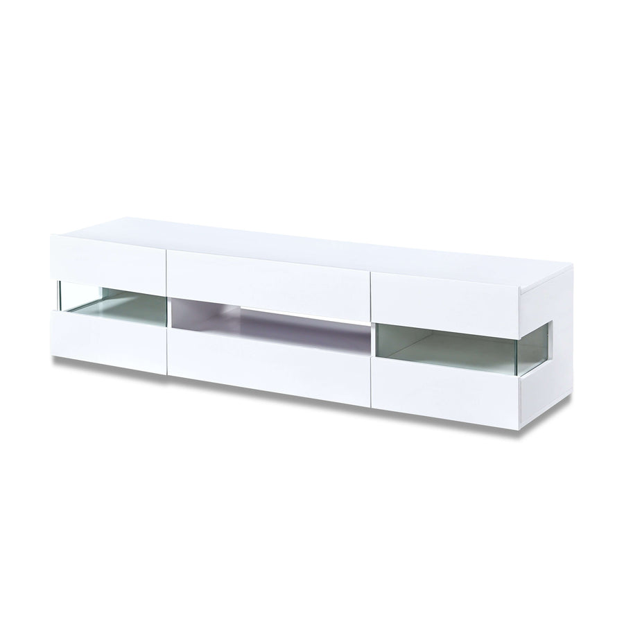 Concord LED TV Unit White High Gloss 4 Compartments