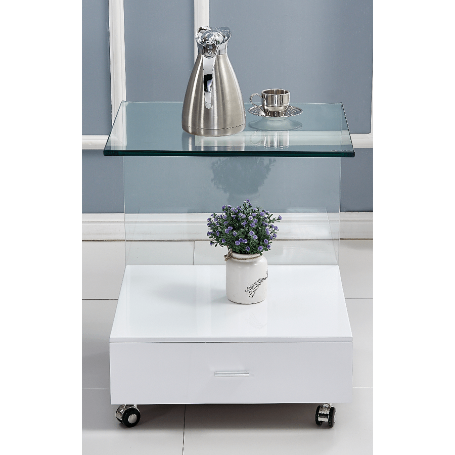 Cresta Lamp Table with Drawer