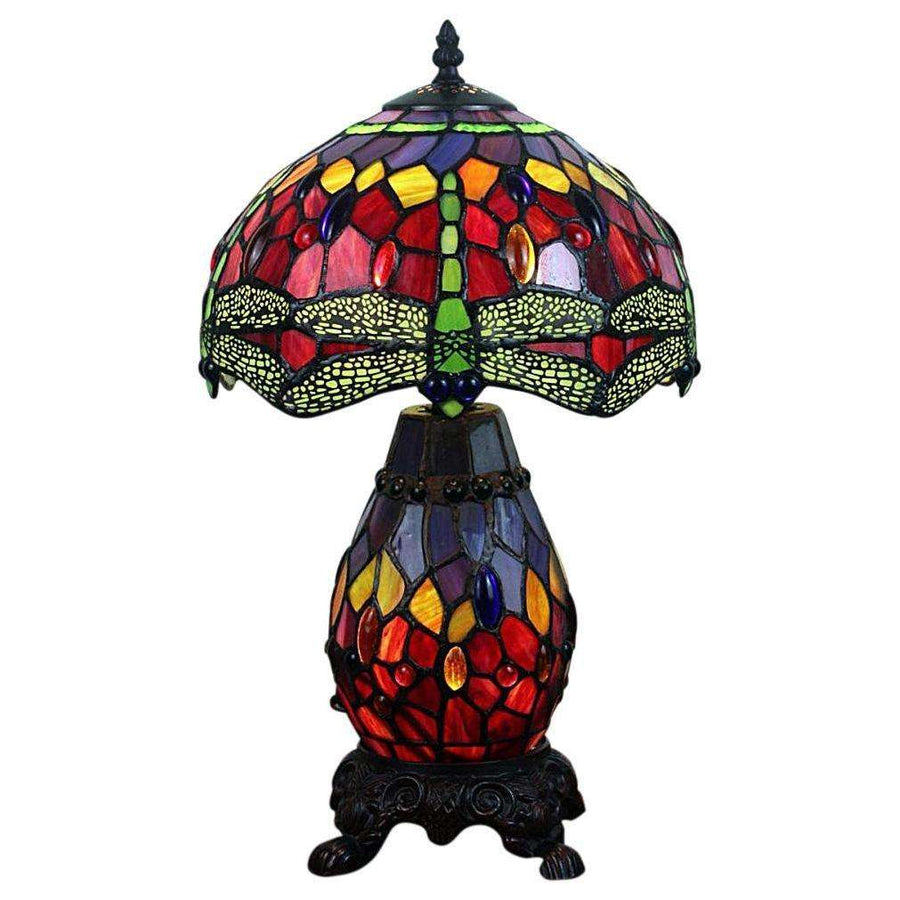 Double Light Dragonfly Tiffany Lamp 47cm