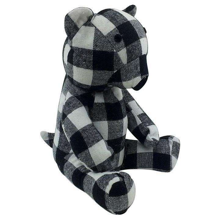 Fabric Teddy Bear Doorstop 30cm