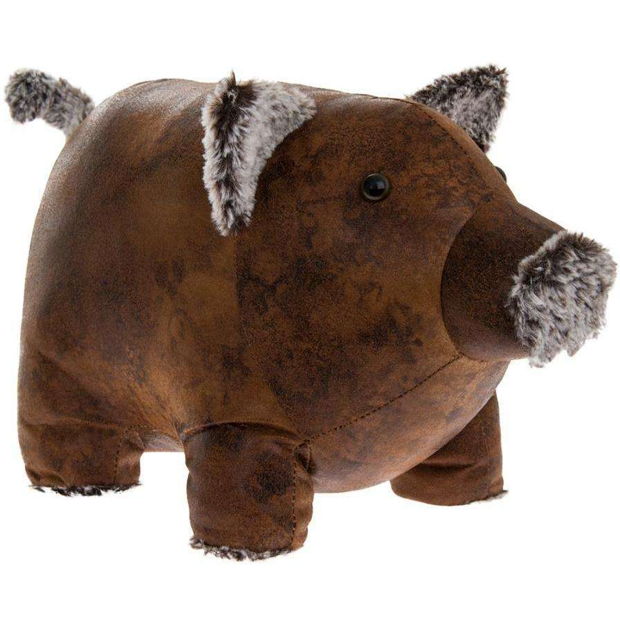 Faux Leather Piggy Doorstop
