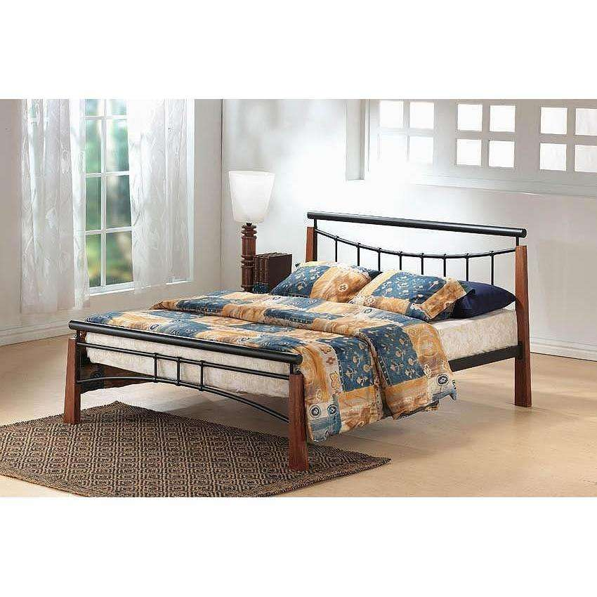 Franklin Bed King Size Black/Dark Oak