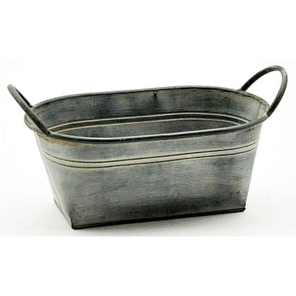 Galvanised Metal Planter 33cm
