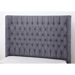 Genesis Linen Double Bed Dark Grey
