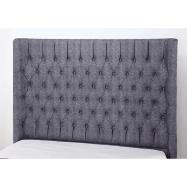 Genesis Linen King Size Bed Dark Grey