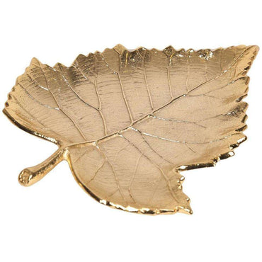Gold Aluminium Leaf Decoration, 22cm